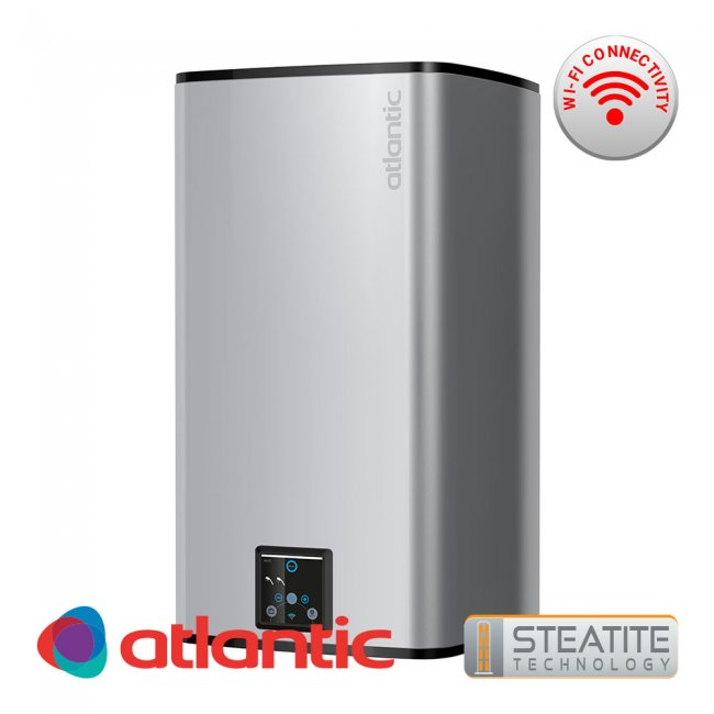 Бойлер Atlantic Steatite CUBE Silver Wi-Fi 150л