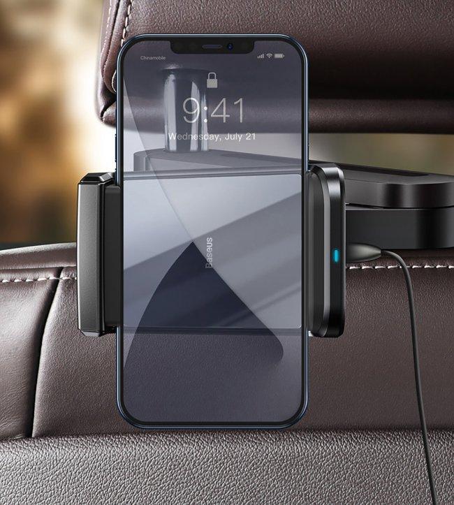 Стойка за кола Baseus Energy Поставка за телефон със зарядно устройство