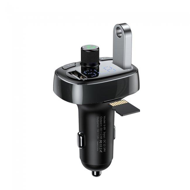 Зарядни устройства Baseus FM Transmitter Bluetooth USB microSD