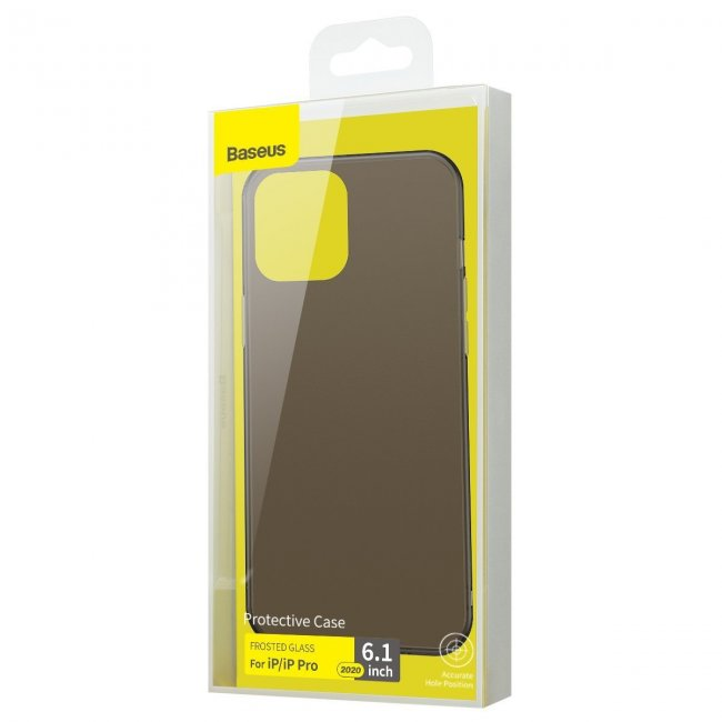 Калъф за Baseus Frosted Glass Case for iPhone 12 / iPhone 12 Pro