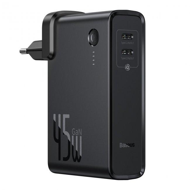Външни Батерии POWER BANK Baseus GaN 2в1 Бързо зареждане Батерия и зарядно устройство C + C 10000mAh 45W