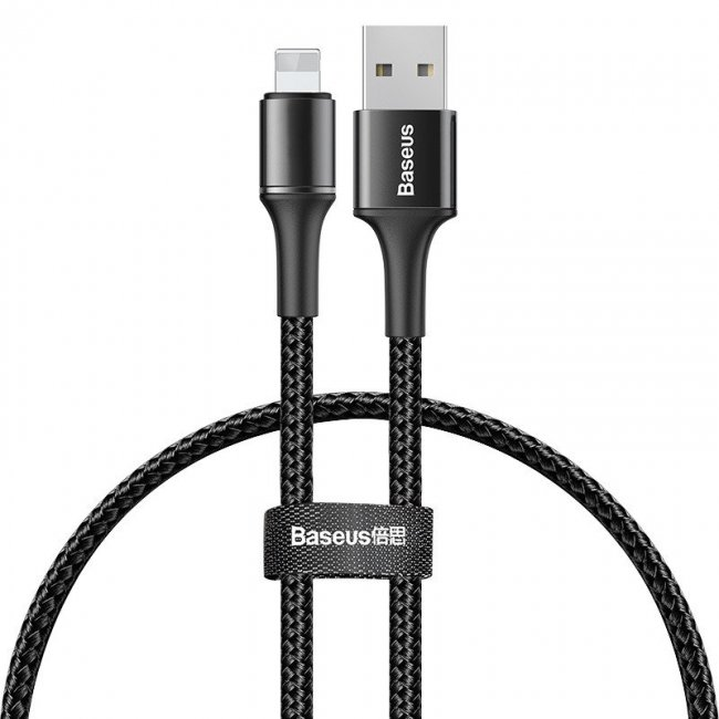 Кабел Baseus Halo data cable IP 2.4A 0.25m