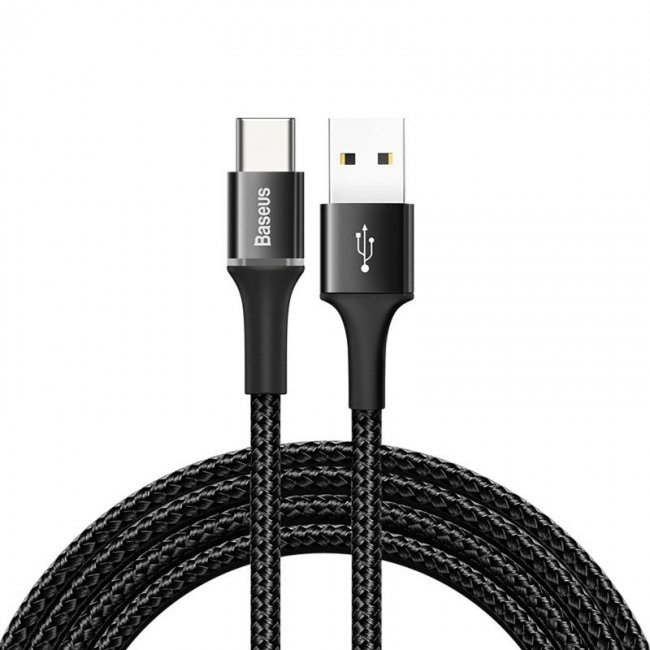Кабел Baseus Halo data cable Type-C LED 2A 2m