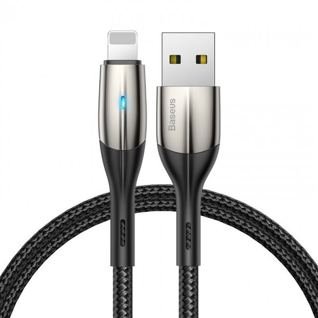 Кабел Baseus Horizontal Lightning Cable with LED Lamp