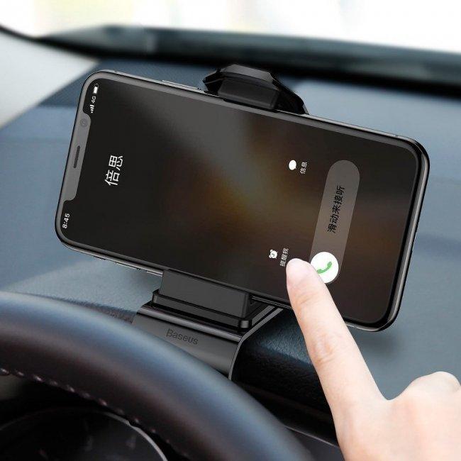 Стойка за кола Baseus Mouth dashboard car mount for smartphone - държач за кола