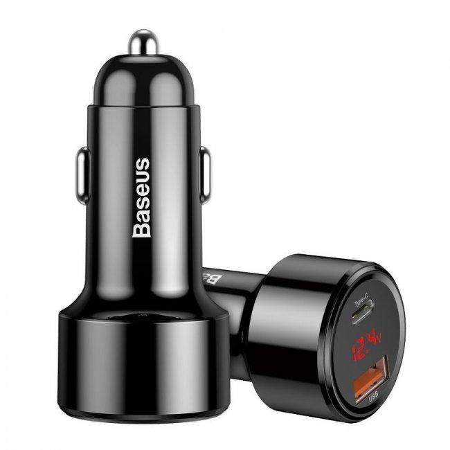 Зарядно за Baseus PPS Magic Car Charger USB + USB-C QC 4.0 PD 45W