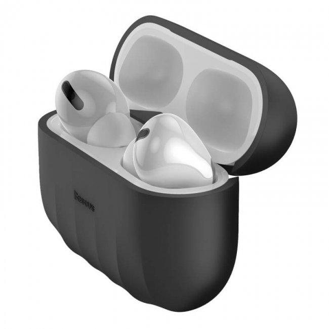 Слушалки Baseus Shell pattern Silica Gel Case For Pods Pro - силиконов калъф
