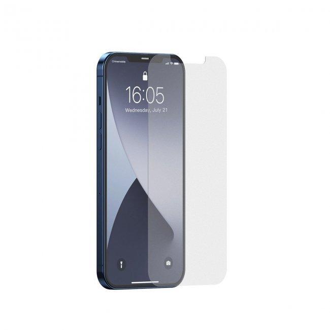 """Стъклен Протектор за мобилен телефон Baseus Tempered Glass Film Frosted iPhone 12 Pro Max 6.7"""""""