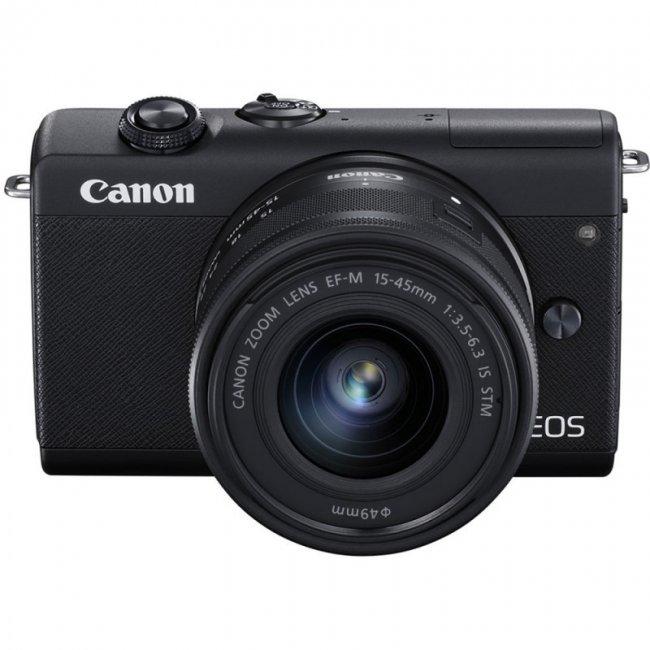 Фотоапарат Canon M200 + обектив Canon EF-M 15-45mm