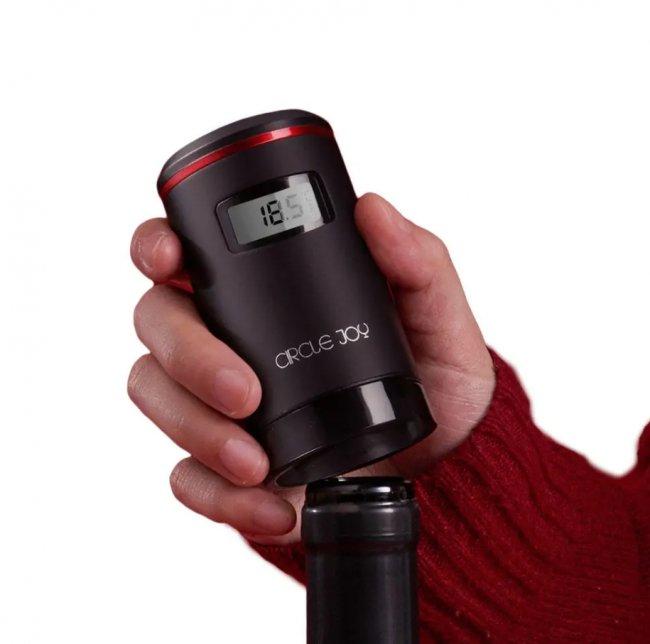 Смарт устройства за дома, модерни устройства Circle Joy Wine Stopper CJ-JS03 - Електрическа вакуумна тапа за вино