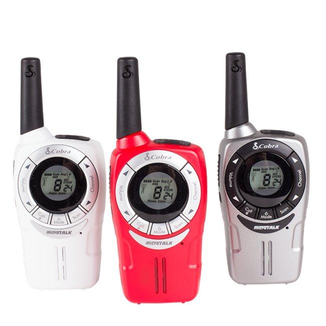 Радиостанция Cobra SM660 - комплект бяла, сива и червена