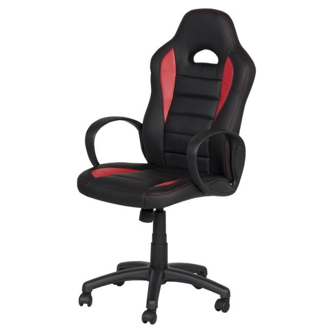 Геймърски стол Геймърски столове Carmen 7501 - червено-черен