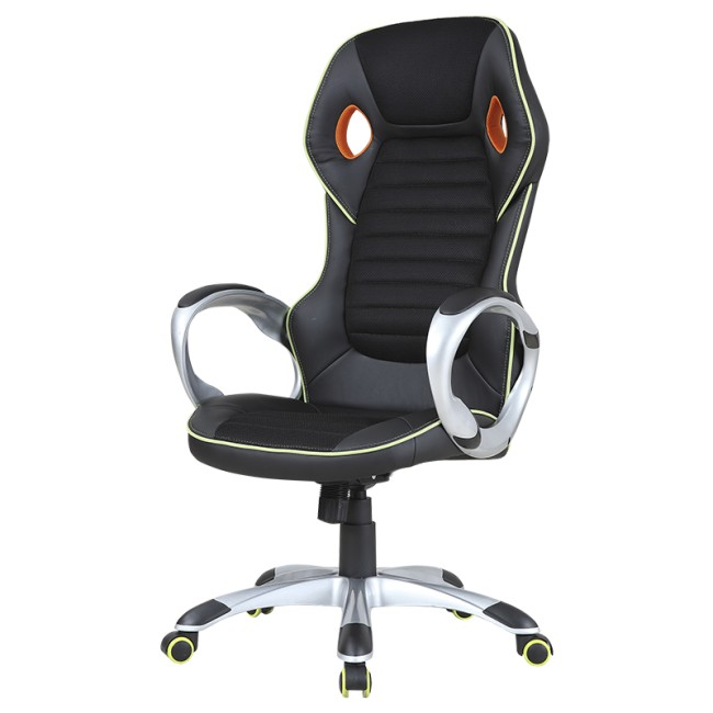 Офис столове Геймърски столове Carmen 7506 - черно-зелен