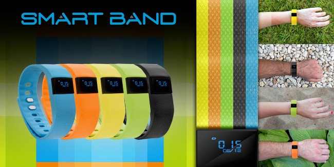 Спортна гривна GoClever Smart Band Infinite Invention