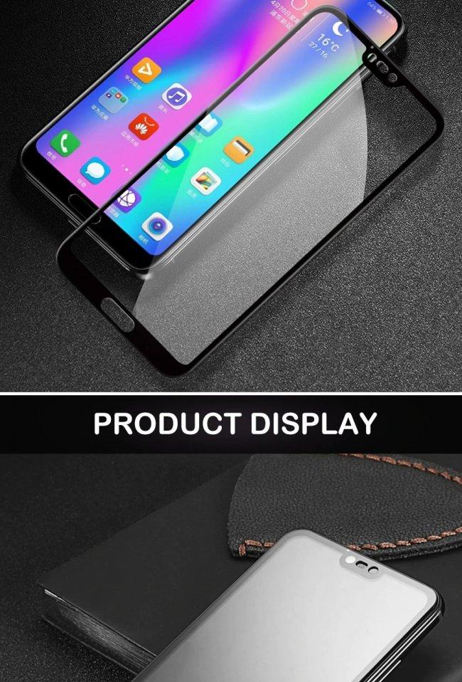 Huawei Honor 10 9D Стъклен Протектор с пълно покритие Снимка