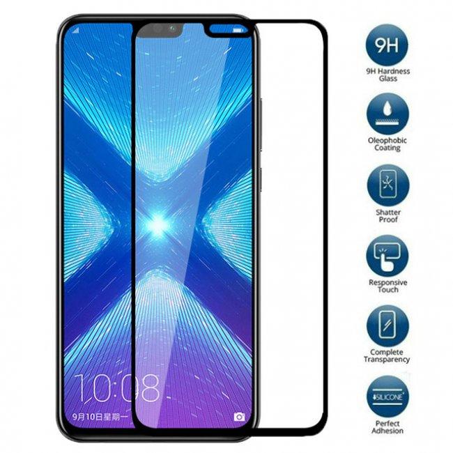 Стъклен Протектор за мобилен телефон Huawei Honor 8X  Glass Protector 9D - Стъклен Протектор
