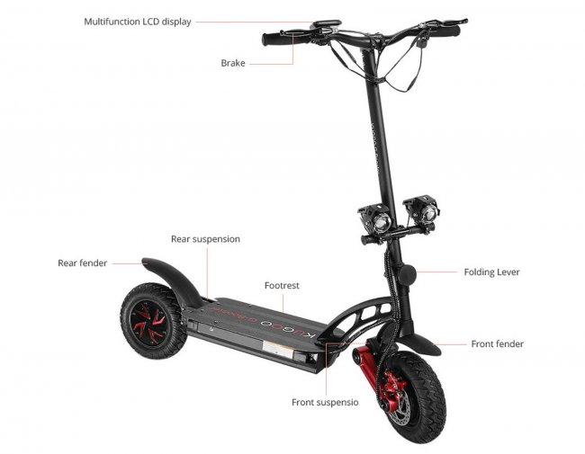 "Снимки на KUGOO G-BOOSTER Electric Scooter 10""  скутер"
