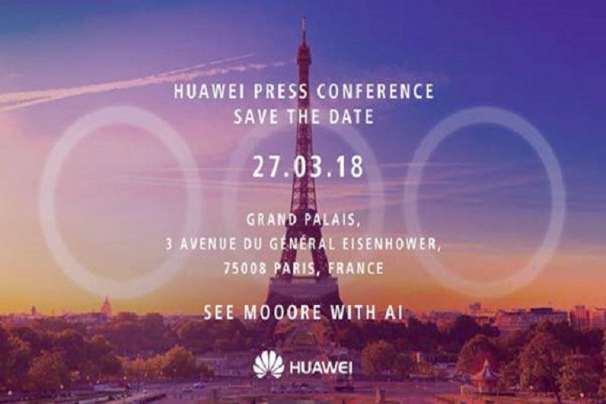 Huawei P20- на 27- март в Париж