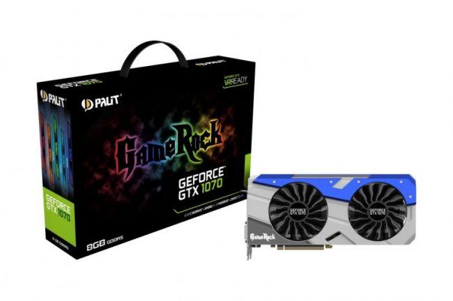 Видеокарта Palit GeForce GTX 1070 GameRock 8GB GDDR5X 256bit PCIe (NE51070T15P2-1041G)