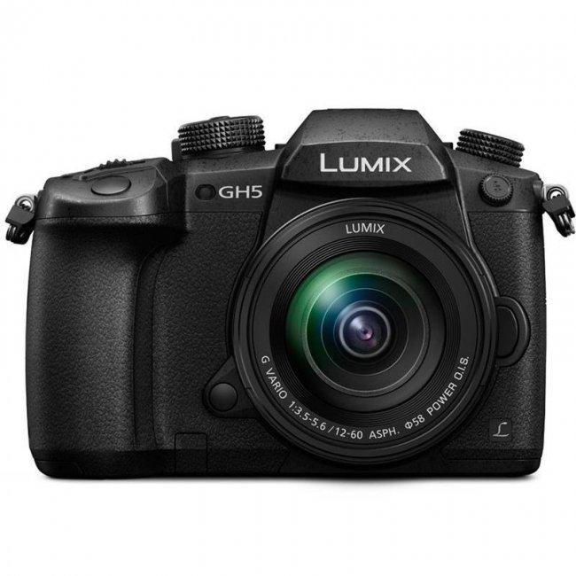 Фотоапарат Panasonic Lumix GH5 + обектив Panasonic 12-60mm f/3.5-5.6 OIS+ батерия Panasonic DMW-BLF19E