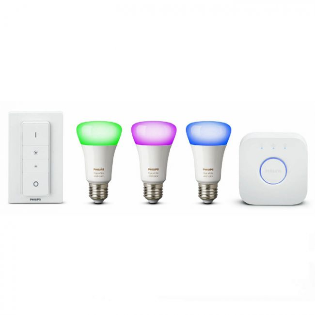 Philips Hue 10W A19 E27 3 set +switch