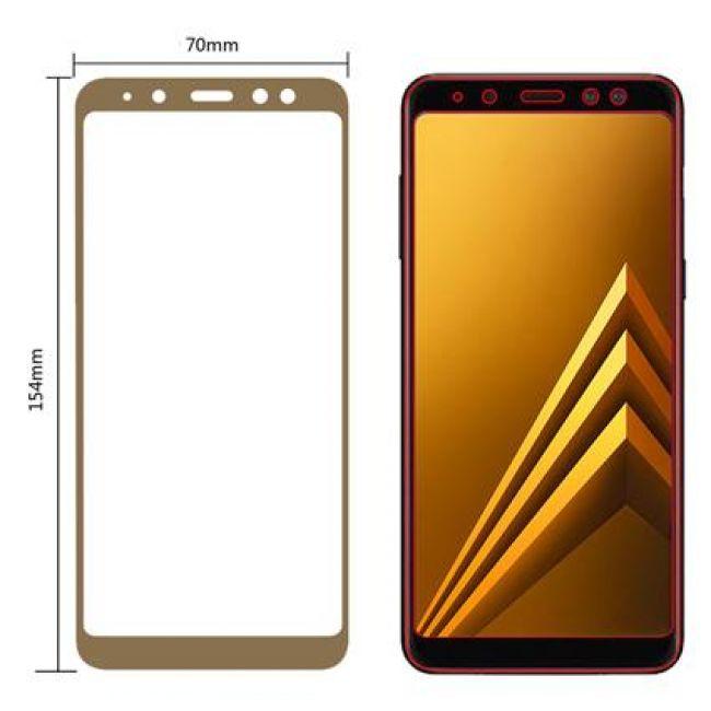Цена Samsung Galaxy A8 Plus A730 (2018) стъклен протектор с пълно покритие