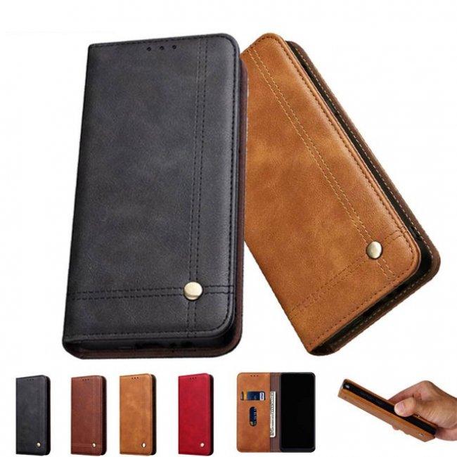 Калъф за Samsung Galaxy M20 Flip Case - кожен