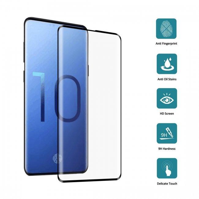 Стъклен Протектор за мобилен телефон Samsung Galaxy S10 Стъклен Протектор с пълно покритие