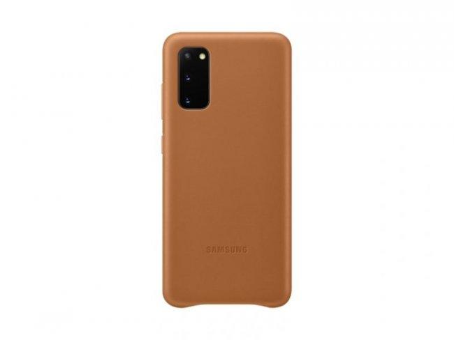 Снимки на Samsung Galaxy S20 G980 Leather Cover Кожен оригинален