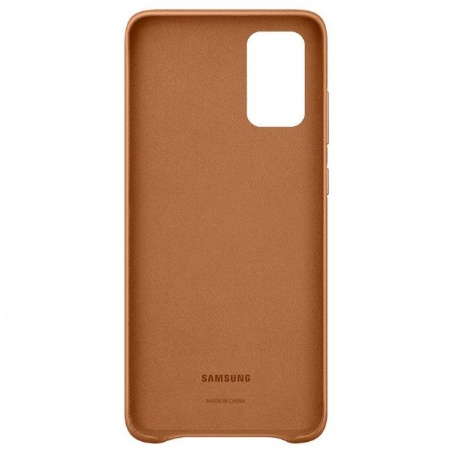 Samsung Galaxy S20 G980 Leather Cover Кожен оригинален Снимка