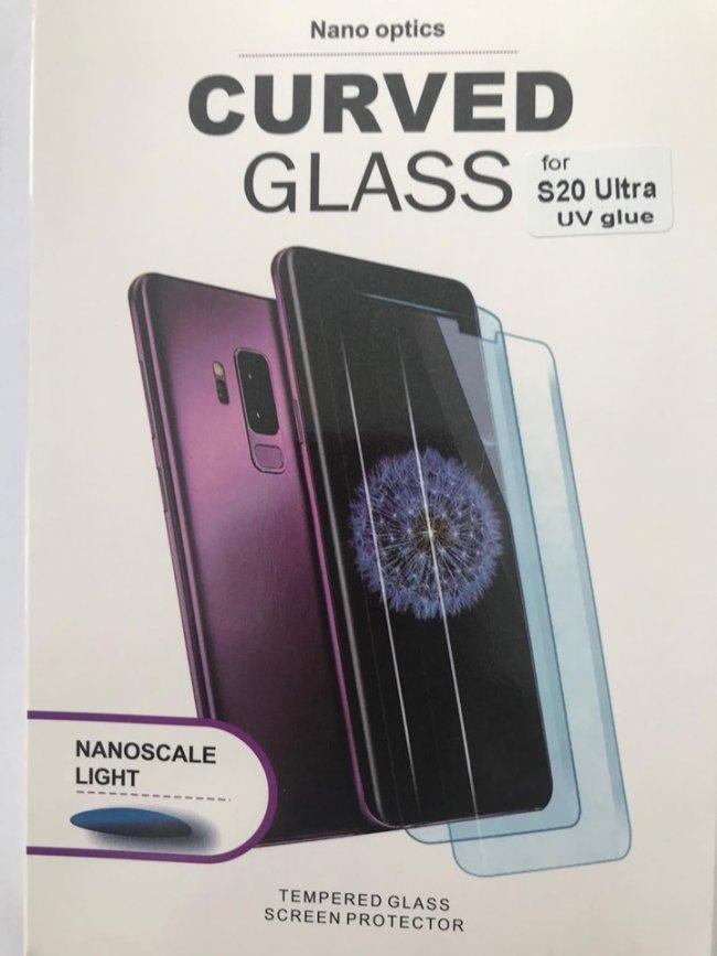 Стъклен Протектор за мобилен телефон Samsung S20 Ultra UV Glue Curved Glass