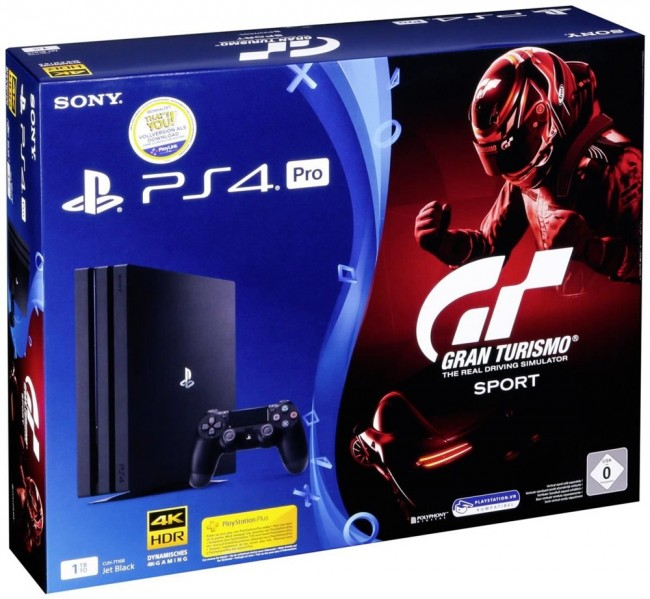 PlayStation Sony PlayStation 4 Pro 1TB+PS4 Games Gran Turismo Sport
