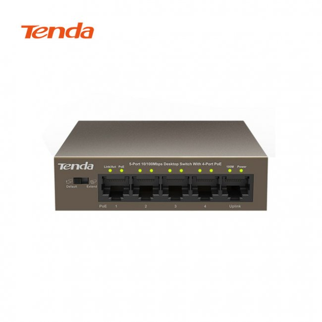 Tenda 5 port TEF1105P-4-63W