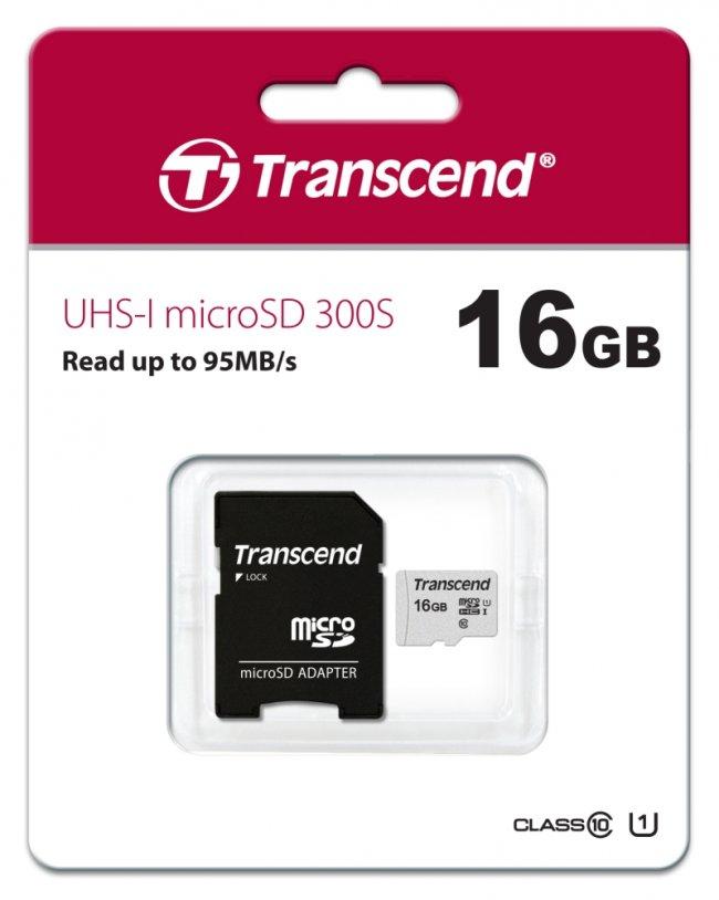 Карта памет Transcend 16GB microSD UHS-I U1 TS16GUSD300S