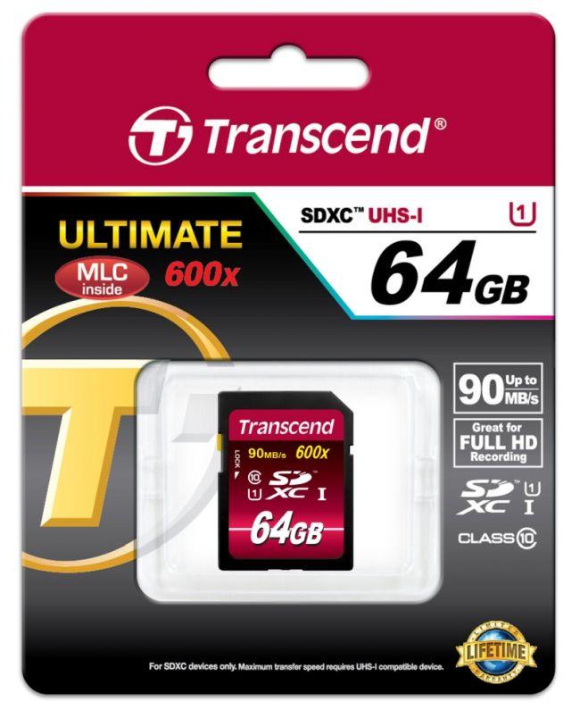 Карта памет Transcend 64GB SDXC (Class10) UHS-I Card TS64GSDXC10U1