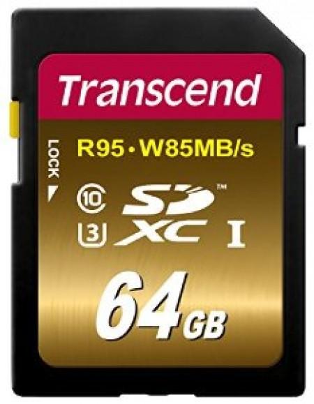 Карта памет Transcend 64GB SDXC UHS-I U3X Ultimate Class 10 TS64GSDU3X