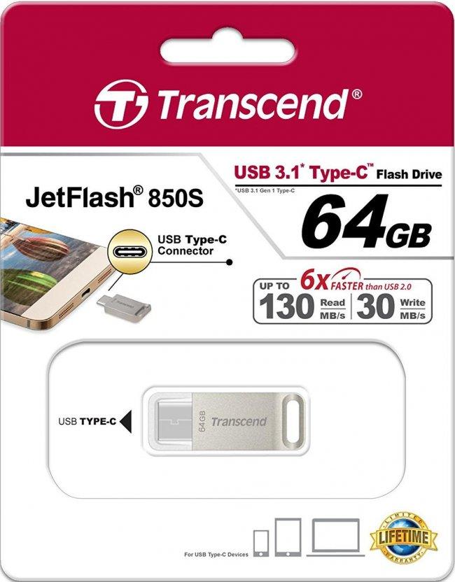 Transcend JetFlash 850S USB 3.1 TYPE C 64GB