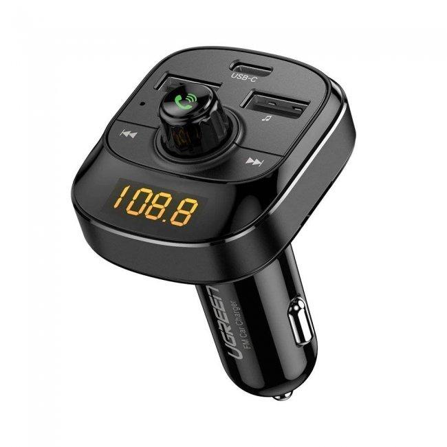 Зарядно за UGREEN ED040  FM предавател и зарядно за кола