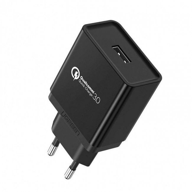 Зарядно за UGREEN USB Charger QC 3.0 18W (Black)