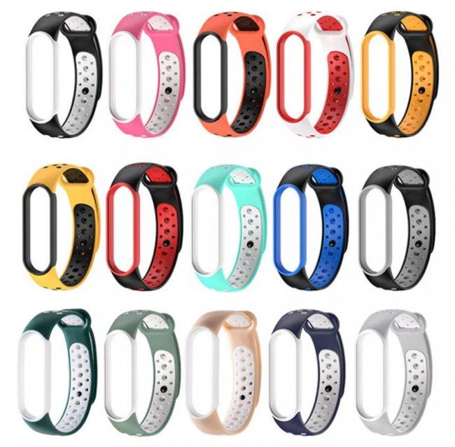 Аксесоари за спортни гривни и часовници Xiaomi Breathable Silicone Strap For MiBand 5/6 силиконова каишка