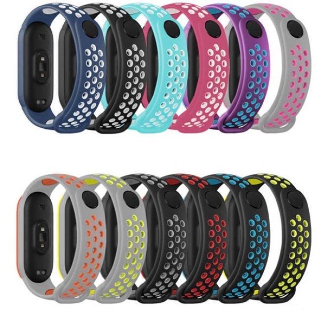 Аксесоари за спортни гривни и часовници Xiaomi Breathable Silicone Strap MiBand 5/6 силиконова каишка
