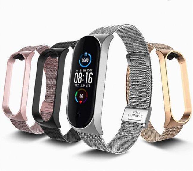 Аксесоари за спортни гривни и часовници Xiaomi Fashion Business Wristband For Мi Band 5/6 метална каишка