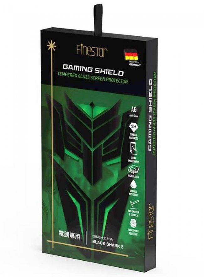 Стъклен Протектор за мобилен телефон Xiaomi FINESTAR GAMING SHIELD TEMPERED GLASS SCREEN PROTECTOR DESIGNED FOR BLACK SHARK 2