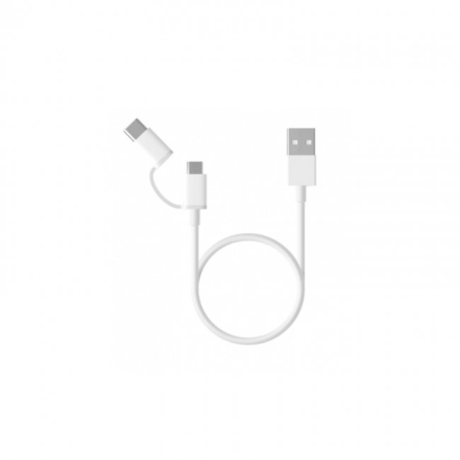 Кабел Xiaomi Кабел оригинален Xiaomi Mi 2-in-1 USB Micro USB to Type C (30cm)