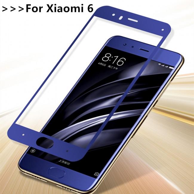 Стъклен Протектор за мобилен телефон Xiaomi Mi 6 Стъклен протектор  с пълно покритие