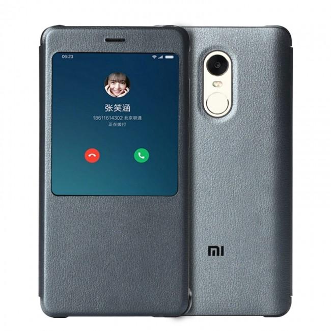 Калъф за Xiaomi Оригинален калъф за Redmi Note 4X Smart View Flip Case