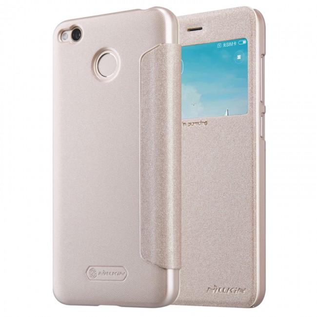 Калъф за Xiaomi Redmi 4x Case Cover NILLKIN Sparkle PU Leather Flip Cover view Window for Xiaomi Redmi 4x Case Cover