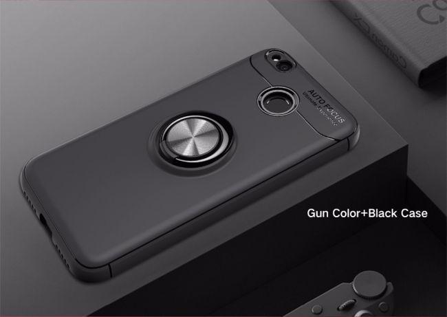 Калъф за Xiaomi Redmi 4X с пръстен и вградена плоча за магнитна стойка 360°
