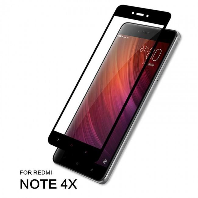 Стъклен Протектор за мобилен телефон Xiaomi Redmi Note 4/4X Стъклен протектор с пълно покритие за версия (64GB)