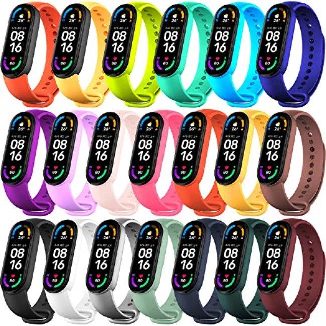 Аксесоари за спортни гривни и часовници Xiaomi Silicone Strap For Mi Band 5/6 силиконова каишка